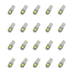 povoljno Automobili i motocikli-20pcs T10 Automobil Žarulje 0.8 W SMD 5050 55 lm LED Žmigavac svjetlo For Univerzális