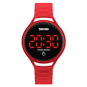 رخيصةأون الساعات الرقمية للمرأة-SKMEI ساعة رياضية ساعة المعصم ساعة رقمية ياباني رقمي سيليكون أسود / أزرق / أحمر 30 m مقاوم للماء كوول رقمي سيدات موضة - أزرق داكن أصفر أحمر سنتان عمر البطارية / Maxell626 + 2025
