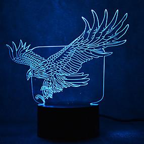olcso Ajándék fények-1 db 3D éjszakai fény USB Vízálló / Érzékelő / Tompítható LED / Modern Kortárs
