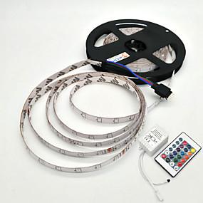olcso EU Raktár-5 m Világítás készletek 300 LED SMD 2835 1 24Keys távirányító RGB Vízálló / Dekoratív 12 V 1set / IP65