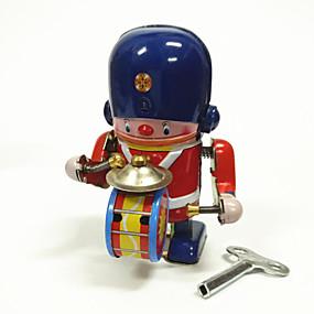 povoljno Igračke i razonoda-Roboti Igračka na navijanje Stroj Roboti Set bubnjeva Metalic Željezo Vintage 1 pcs Dječji Odrasli Dječaci Djevojčice Igračke za kućne ljubimce Poklon