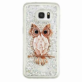 voordelige Galaxy S7 Edge Hoesjes / covers-hoesje Voor Samsung Galaxy S7 edge / S7 / S6 edge Stromende vloeistof / Patroon Achterkant Uil Zacht TPU