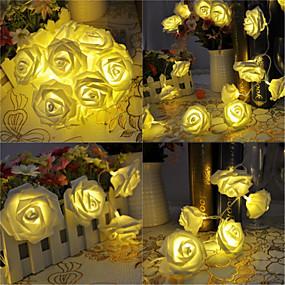 levne LED pásky-KWB 5M Světelné řetězy 20 LED diody Teplá bílá Vánoční svatební dekorace Baterie