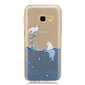 voordelige Galaxy A3(2016) Hoesjes / covers-hoesje Voor Samsung Galaxy A3 (2017) / A5 (2017) / A5(2016) Doorzichtig / Patroon Achterkant Cartoon Zacht TPU