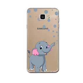 voordelige Galaxy A8 Hoesjes / covers-hoesje Voor Samsung Galaxy A5 (2017) / A7 (2017) / A7(2016) Ultradun / Patroon Achterkant Olifant Zacht TPU