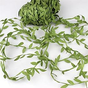 povoljno Ukrasi za blagdane i zabave-20meter svilenih listova u obliku umjetnog zelenog lišća za vjenčanje ukras DIY vijenac dar scrapbooking obrt lažni cvijet