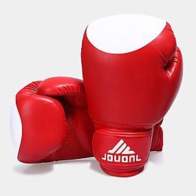 baratos Exercício e Fitness-Luvas para Treino de Box / Luvas de Box Para Boxe, Fitness Dedo Total Respirável, Design Anatômico, Protecção Preto / Vermelho