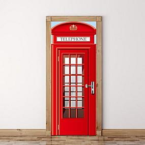 tanie Dekoracyjne naklejki-Naklejki na drzwi - Naklejki ścienne 3D Martwa natura Salon / Sypialnia