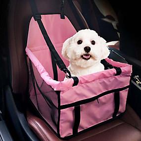 halpa Lemmikkieläinten Tarvikkeita-Kissa Koira Auton penkin suojus Dog Pack Pet Booster -istuin Kannettava Hengittävä Kaksipuolinen Yhtenäinen Kangas Pinkki Harmaa / Taiteltava