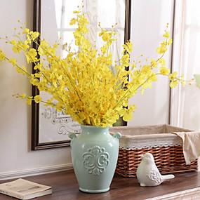 ieftine Flori Artificiale-Flori artificiale 10 ramură Stil modern Orhidee Față de masă flori