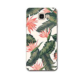 お買い得  Galaxy A8 ケース / カバー-ケース 用途 Samsung Galaxy A3(2017) / A7(2017) / A5(2016) 超薄型 / パターン バックカバー フラワー ソフト TPU