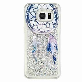 voordelige Galaxy S7 Edge Hoesjes / covers-hoesje Voor Samsung Galaxy S7 edge / S7 / S6 edge Stromende vloeistof / Patroon Achterkant Dromenvanger Zacht TPU