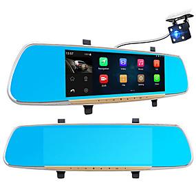 voordelige Auto DVR's-A33 1080p / Full HD 1920 x 1080 Bewegingsdetectie / 1080p / Full HD Auto DVR 170 graden Wijde hoek 7 inch(es) IPS Dash Cam met WIFI / GPS / Nacht Zicht Neen Autorecorder / G-Sensor / Continu-opname