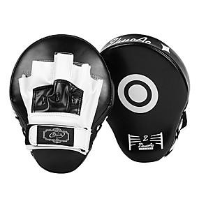 baratos Exercício e Fitness-Boxe e Artes Marciais Pad Manopla de Boxe Para Taekwondo MMA Kickboxing Boxe Nível Profissional Velocidade Durável PU 1 pcs Preto Vermelho