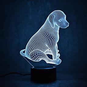 povoljno LED noćna rasvjeta-3D noćno svjetlo Vodootporno / Szenzor / Zatamnjen LED / Suvremena suvremena USB 1 kom.