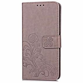 voordelige Galaxy Core Prime Hoesjes / covers-hoesje Voor Samsung Galaxy On7(2016) / On5(2016) / J7 Prime Portemonnee / Kaarthouder / met standaard Volledig hoesje Effen Hard PU-nahka