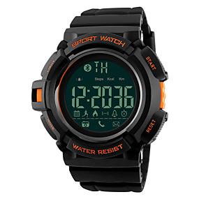 Недорогие Фирменные часы-SKMEI Муж. Спортивные часы Армейские часы Наручные часы Цифровой Мода Защита от влаги силиконовый Черный Цифровой - Черный Синий Оранжевый Два года Срок службы батареи / Японский / Будильник