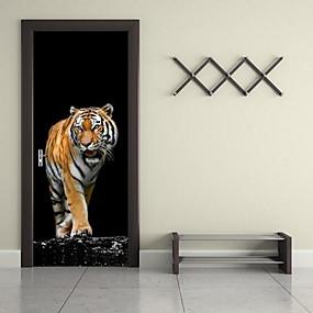 رخيصةأون ملصقات ديكور-ملصقات الباب - ملصقات الحائط الحيوان حيوانات غرفة الجلوس / غرفة النوم