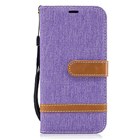 voordelige Galaxy A5(2016) Hoesjes / covers-hoesje Voor Samsung Galaxy A5(2017) / A3(2017) Portemonnee / Kaarthouder / met standaard Volledig hoesje Lijnen / golven Hard tekstiili voor A3 (2017) / A5 (2017) / A5(2016)
