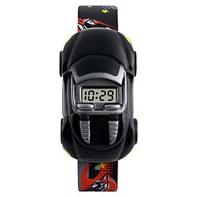 Недорогие Фирменные часы-SKMEI Наручные часы электронные часы Цифровой силиконовый Календарь Творчество Cool Цифровой Мода - Желтый Красный Синий Два года Срок службы батареи / Maxell626 + 2025