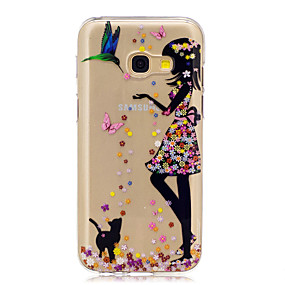 voordelige Galaxy A3(2016) Hoesjes / covers-hoesje Voor Samsung Galaxy A3 (2017) / A5 (2017) / A5(2016) Patroon Achterkant Kat / Sexy dame Zacht TPU