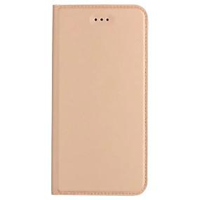 voordelige Huawei Honor hoesjes / covers-hoesje Voor Huawei P9 Lite / Huawei / Huawei P9 Plus P10 Lite / P10 / Huawei P9 Plus Kaarthouder / met standaard / Flip Volledig hoesje Effen Hard PU-nahka