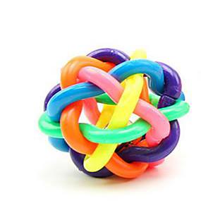olcso Macskaruhák és kiegészítők-Golyó Nyüszítő játékok Bells Cicajáték Kutyajátékok Házi kedvencek Játékok 1 Nyüszít Elasztikus Harang Műanyag Ajándék