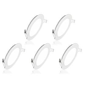 olcso Függőlámpák-5pcs 6 W 30 LED gyöngyök Könnyű beszerelni Süllyesztett kapcsolók Panel izzók Meleg fehér Hideg fehér 85-265 V Otthon / iroda / RoHs / CE