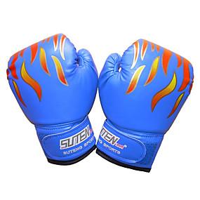 baratos Boxe-Luvas para Saco de Box Luvas para Treino de Box Luvas de Box Para Boxe Mixed Martial Arts (MMA) Dedo Total Protecção Pele Crianças Homens - Preto Vermelho Azul