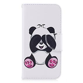 voordelige Galaxy A3(2016) Hoesjes / covers-hoesje Voor Samsung Galaxy A3 (2017) / A5 (2017) / A5(2016) Portemonnee / Kaarthouder / met standaard Volledig hoesje Panda Hard PU-nahka