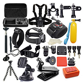 cheap Sports Cameras & Accessories For GoPro-Accessory Kit For Gopro Waterproof 42 in 1 42 pcs 1039 Action Camera Gopro 6 Gopro 5 Xiaomi Camera Gopro 4 Gopro 4 Silver Diving Surfing Hunting and Fishing Plastic Nylon EVA / Gopro 1 / Gopro 2
