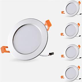 ieftine Lumini Pandativ-5pcs 5 W 500 lm 10 LED-uri de margele Ușor de Instalat Încastrat Lumini Recessed LED Tavan Alb Cald Alb Rece 85-265 V Acasă / Birou Cameră Copii Bucătărie / 5 bc / RoHs / CE