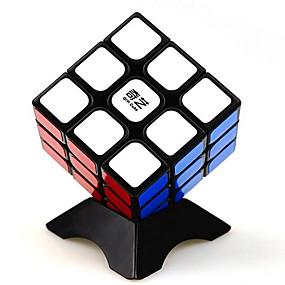 رخيصةأون ألعاب تعليمية-المكعب السحري الذكاء مكعب QI YI 3*3*3 السلس مكعب سرعة مكعبات سحرية لغز مكعب ملصقات مصقولة ألعاب للجنسين هدية