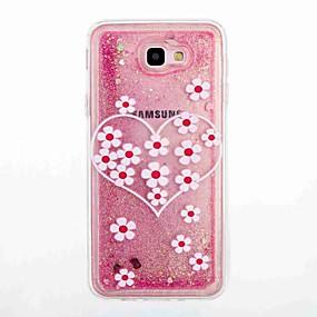 voordelige Galaxy J3 Hoesjes / covers-hoesje Voor Samsung Galaxy J7 Prime / J5 Prime Stromende vloeistof / Patroon Achterkant Bloem Zacht TPU voor J7 Prime / J7 (2016) / J5 Prime