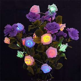 povoljno Dom i vrt-5m 20 vodio baterija vodio niz cvijet ruža vila svjetlo božićni dekor (topla bijela / bijela / roza / žuta / više boja / zelena / crvena / ljubičasta / plava)