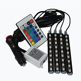 رخيصةأون مصابيح ليد مبتكرة-أضواء السيارات بقيادة قطاع النيون مصباح الجو الزخرفية أضواء السيارة ضوء الداخلية