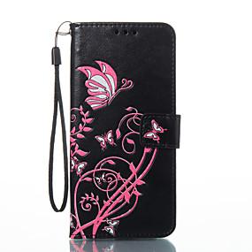 voordelige Galaxy S2 Hoesjes / covers-hoesje Voor Samsung Galaxy S8 Plus / S8 / S7 edge Portemonnee / Kaarthouder / met standaard Volledig hoesje Vlinder Hard PU-nahka