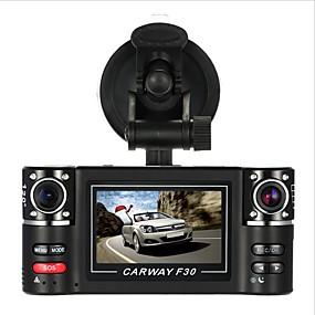 voordelige Auto DVR's-F30S HD 1280 x 720 Auto DVR 120 graden Wijde hoek 2.7 inch(es) Dash Cam met Autorecorder