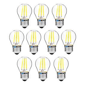 olcso Vásároljon többet, és spóroljon-BRELONG® 10pcs 4 W Izzószálas LED lámpák 300 lm E27 G45 4 LED gyöngyök COB Tompítható Meleg fehér Fehér 200-240 V / 10 db.