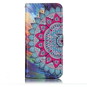 voordelige Galaxy S7 Edge Hoesjes / covers-hoesje Voor Samsung Galaxy S8 Plus / S8 Portemonnee / Kaarthouder / met standaard Volledig hoesje Mandala Hard PU-nahka voor S8 Plus / S8 / S7 edge
