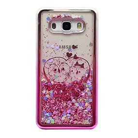 voordelige Galaxy J3 Hoesjes / covers-hoesje Voor Samsung Galaxy J5 (2016) / J3 (2016) / J3 Beplating / Stromende vloeistof / Transparant Achterkant Uil / Glitterglans Zacht TPU