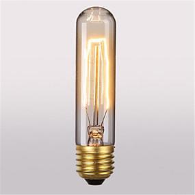 olcso Hagyományos izzó-1db 40 W E26 / E27 T10 Meleg fehér 2300 k Retro / Dekoratív Izzólámpa Vintage Edison izzó 220-240 V / 110-130 V