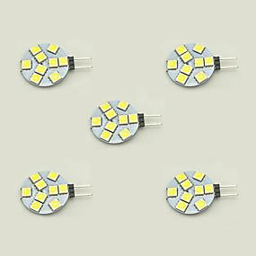 ieftine Becuri LED Bi-pin-5pcs 1.5 W Becuri LED Bi-pin 148 lm G4 T 9 LED-uri de margele SMD 5050 Alb Cald Alb 12 V / 5 bc