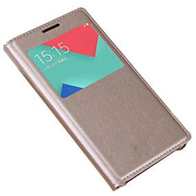 voordelige Galaxy A3(2016) Hoesjes / covers-hoesje Voor Samsung Galaxy A3 (2017) / A5 (2017) / A7 (2017) met venster / Flip Volledig hoesje Effen Hard PU-nahka