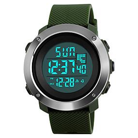 Недорогие Фирменные часы-SKMEI Муж. Спортивные часы Армейские часы Наручные часы Японский Цифровой Стеганная ПУ кожа Черный / Зеленый / Серый 50 m Защита от влаги Будильник Календарь Цифровой Мода - Черный Серый Зеленый