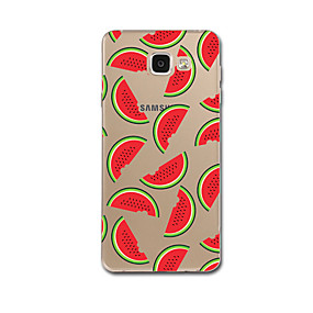 voordelige Galaxy A8 Hoesjes / covers-hoesje Voor Samsung Galaxy A5(2017) / A3(2017) Transparant / Patroon Achterkant Tegel / Fruit Zacht TPU voor A3 (2017) / A5 (2017) / A7 (2017)