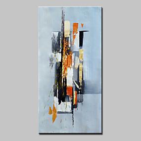 economico Pittura-Hang-Dipinto ad olio Dipinta a mano - Astratto Astratto Modern Senza telaio interno / Tela arrotolata