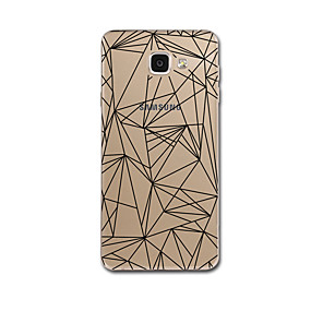 voordelige Galaxy A8 Hoesjes / covers-hoesje Voor Samsung Galaxy A3 (2017) / A5 (2017) / A7 (2017) Transparant / Patroon Achterkant Lijnen / golven / Geometrisch patroon Zacht TPU