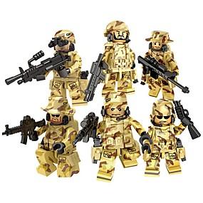 olcso Modellek és építőjáték-DILONG Építőkockák Katonai blokkok Építőkocka minifigurák 20-480 pcs Katonai Katona Háború II összeegyeztethető Legoing Játékok Ajándék / Fejlesztő játék