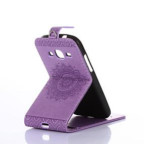 preiswerte Galaxy Ace 4 Hüllen / Cover-Hülle Für Samsung Galaxy Core Prime / Ace 4 Kreditkartenfächer / mit Halterung / Flipbare Hülle Ganzkörper-Gehäuse Solide Hart PU-Leder